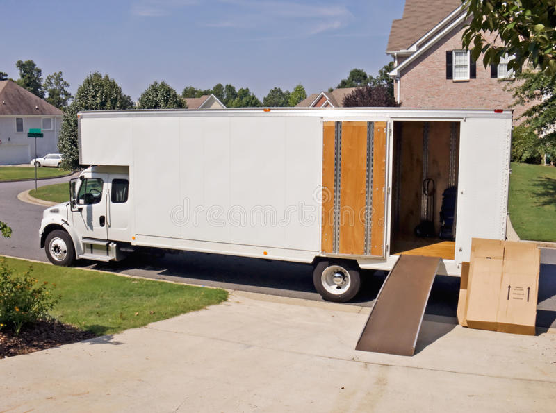 Moving Storage Truck royalty free stock photography