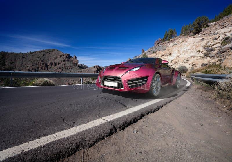 moving vägsportar för bil royaltyfria bilder