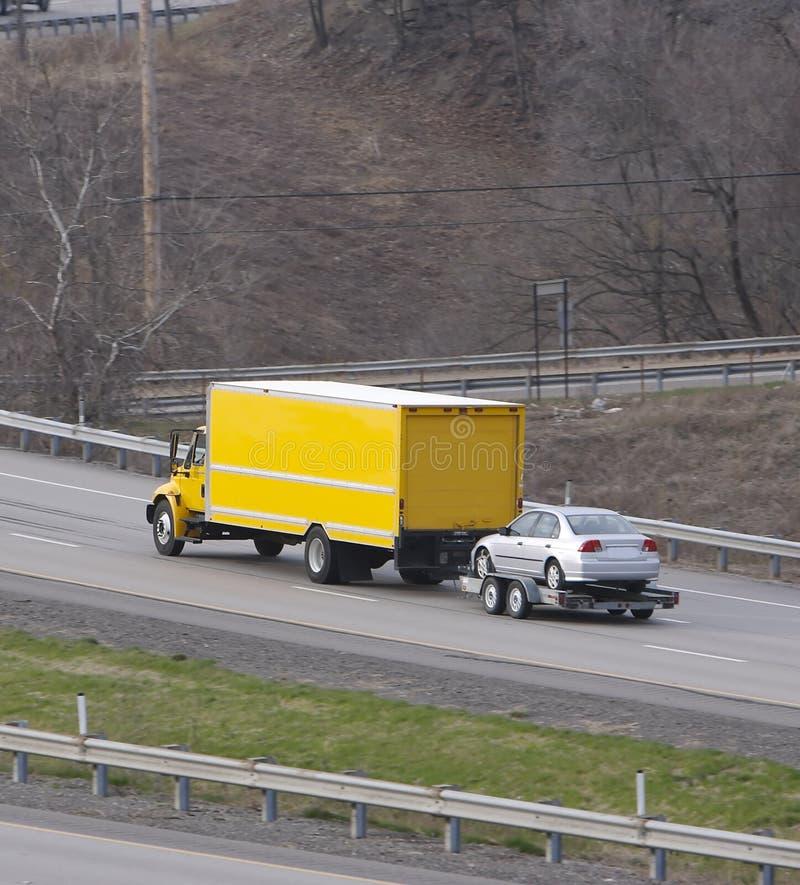 Car Stock Photos: Moving Van & Car Royalty Free Stock Photos