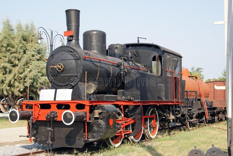 Moving vintage train stock photos