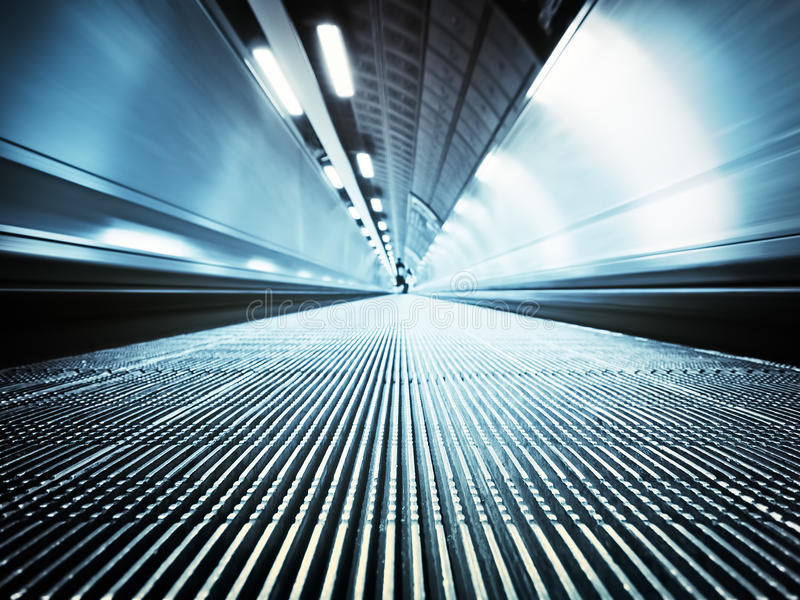Moving Walkway, London. Moving walkway at the London`s Tube royalty free stock photos