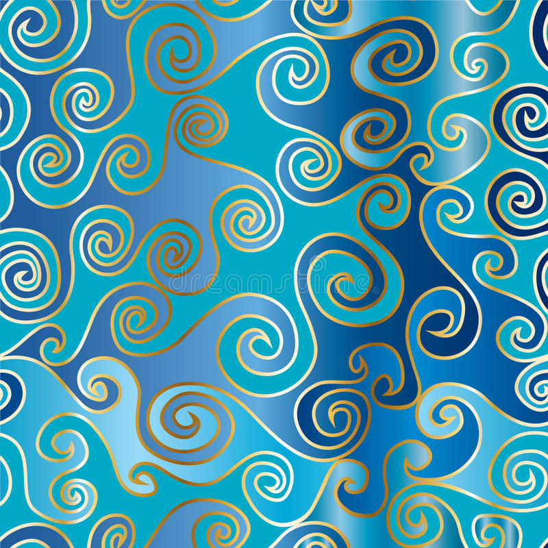 Download Moving Waves Seamless Pattern Stock Illustration - Image: 18215520