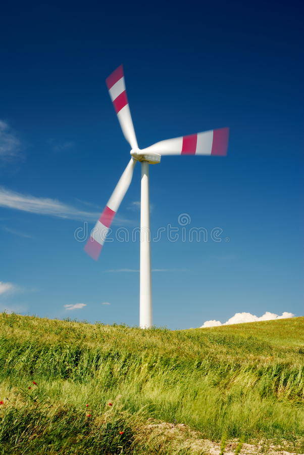 Download Moving Wind Turbine Royalty Free Stock Photography - Image: 15537717