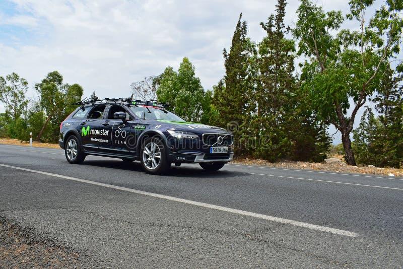 Movistar Team Car La Vuelta España royaltyfri bild