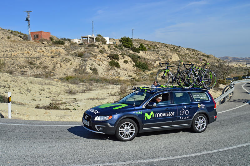 Movistar Team Car royalty free stock photography