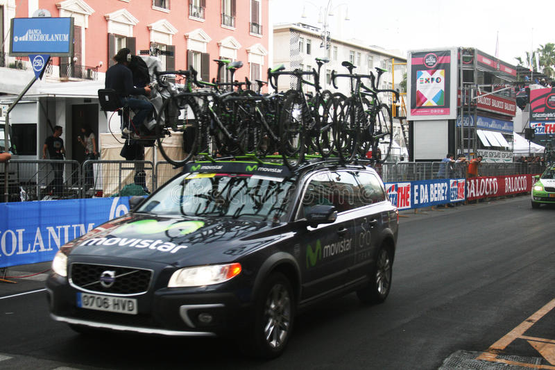 Movistar team car stock images