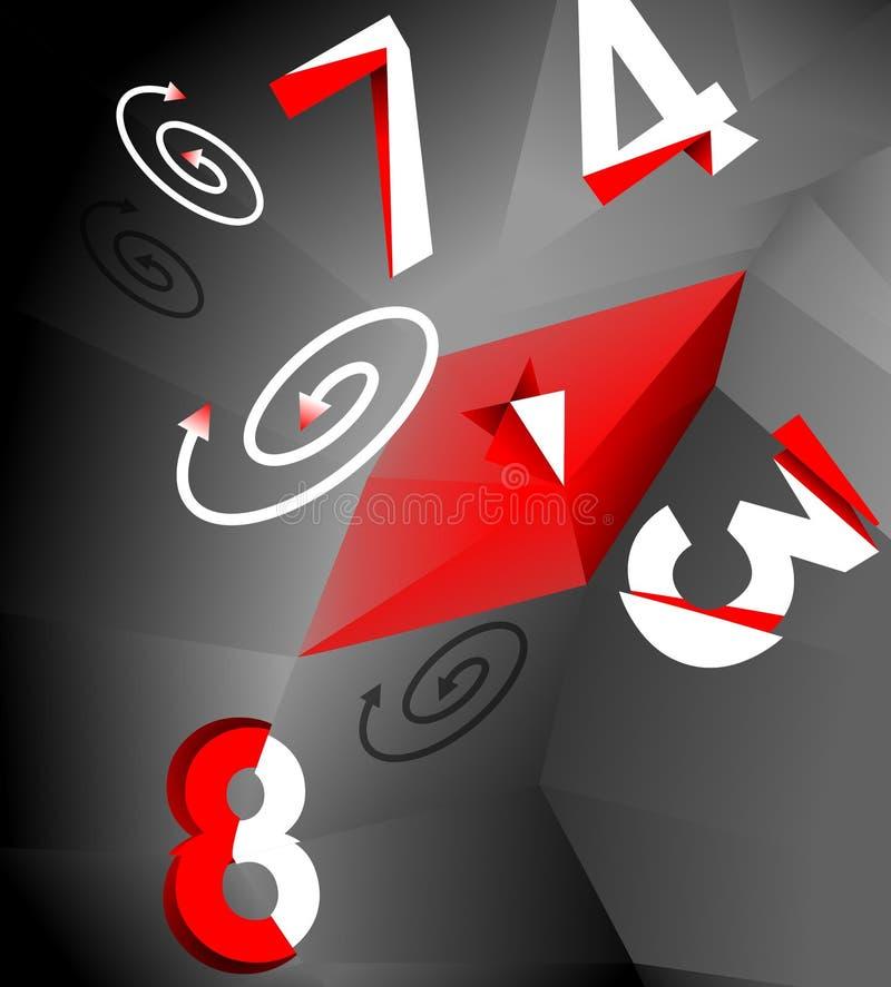 Movvement caótico de números stock de ilustración