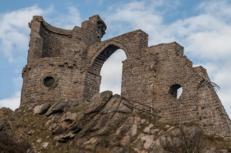 Mow Cop Folly on the Staffordshire/Cheshire border royalty free stock photography