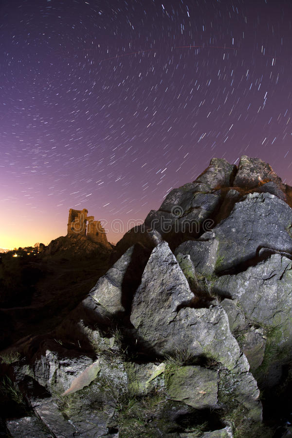 Free Mow Cop Star Trails Royalty Free Stock Images - 22517259