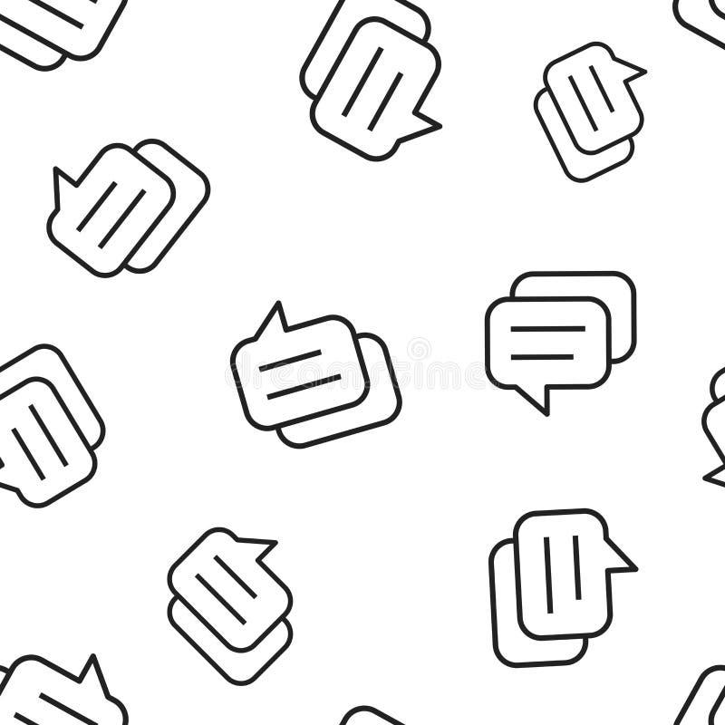 Mowa bąbla bezszwowy deseniowy tło Biznesowy pojęcia vect ilustracja wektor