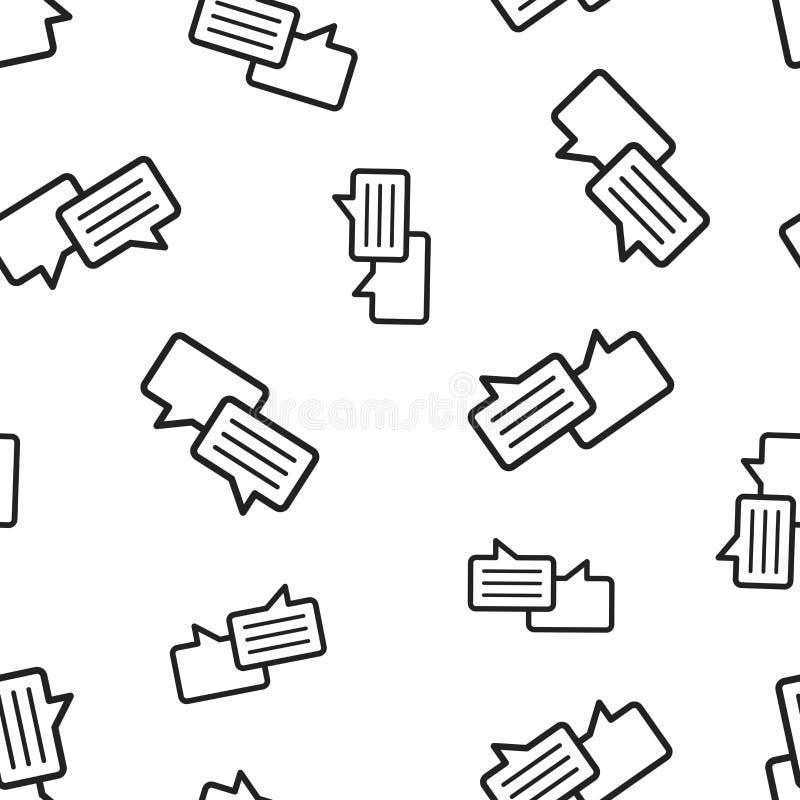 Mowa bąbla bezszwowy deseniowy tło Biznesowy pojęcia vect ilustracji