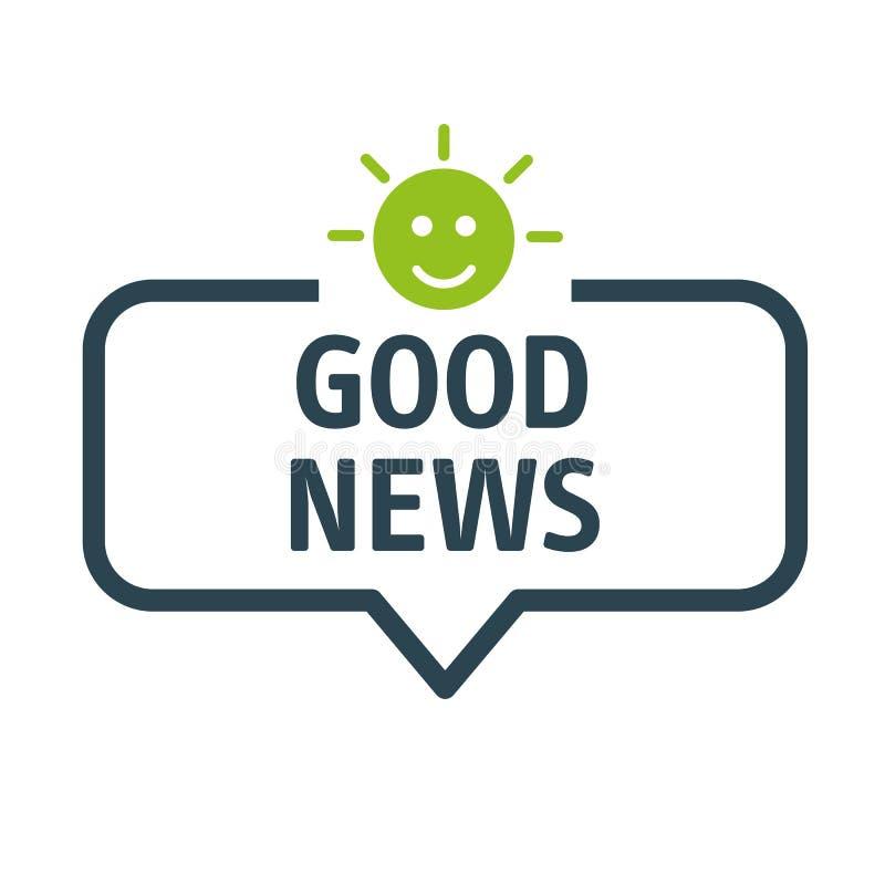 Mowa bąbla dobre wieści wektoru ilustracja ilustracja wektor