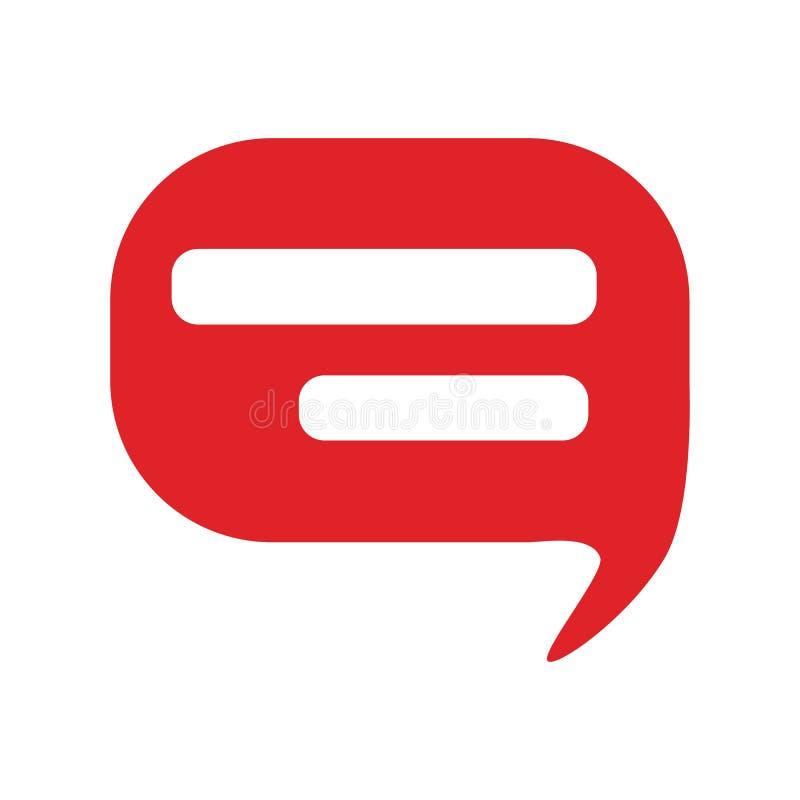 Mowa bąbla ikona Gadka symbol Płaska wektorowa ilustracja odizolowywająca ilustracji