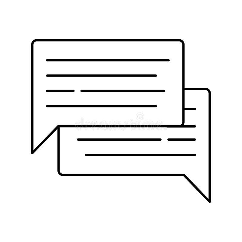 Mowa bąbla ikona odizolowywająca na białym tle Odosobniony wektor wykładająca ilustracja dla sieci lub app projekta royalty ilustracja