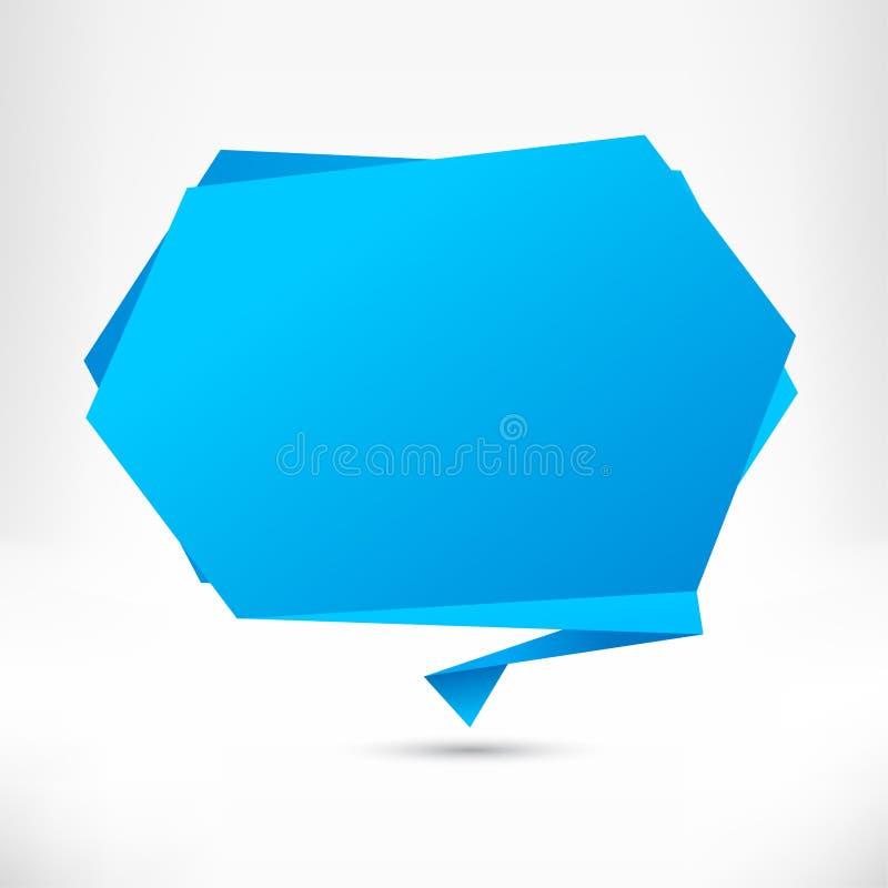Mowa bąbla origami styl. Wektor ilustracja wektor