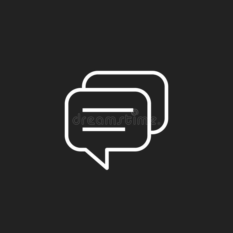 Mowa bąbla Płaska Wektorowa ikona Dyskusja dialog logo ilustracji