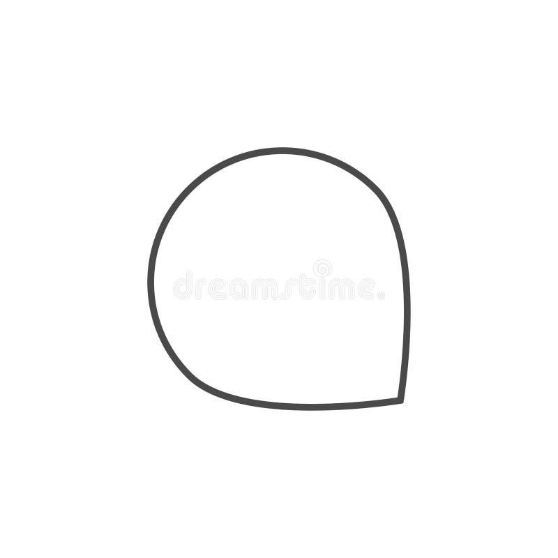 Mowa b?bel, mowa balon, gadka b?bla kreskowej sztuki wektorowa ikona dla apps i strony internetowe, obraz royalty free