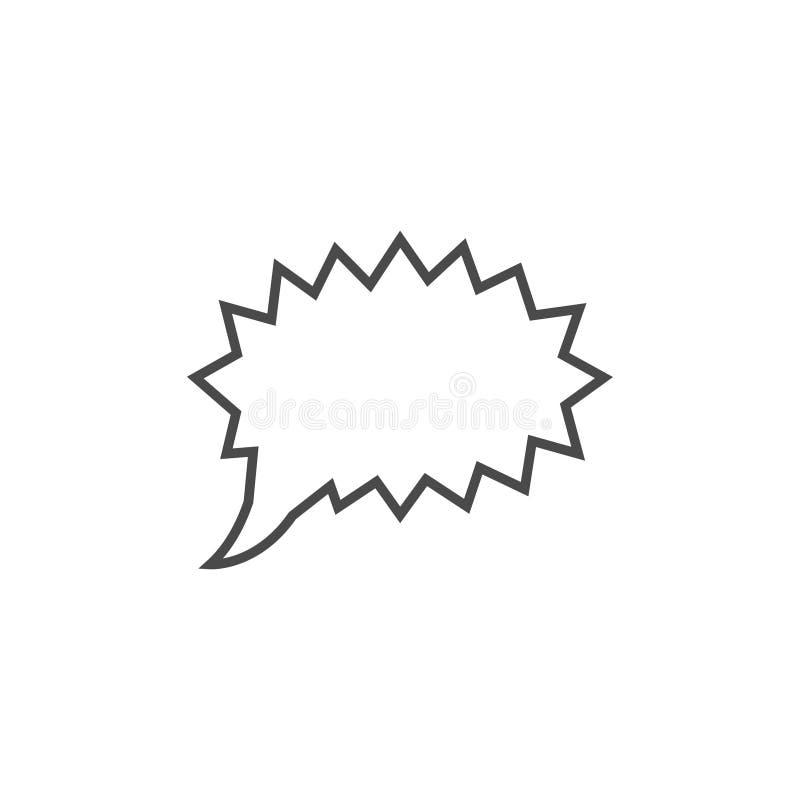 Mowa b?bel, mowa balon, gadka b?bla kreskowej sztuki wektorowa ikona dla apps i strony internetowe, ilustracja wektor