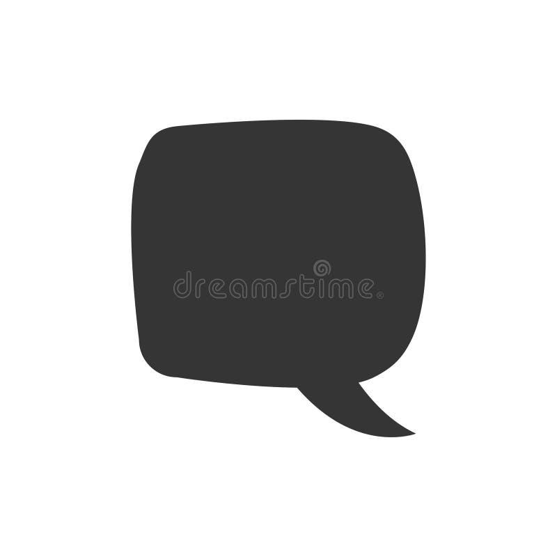 Mowa b?bel, mowa balon, gadka b?bla wektorowa ikona dla apps i strony internetowe, royalty ilustracja