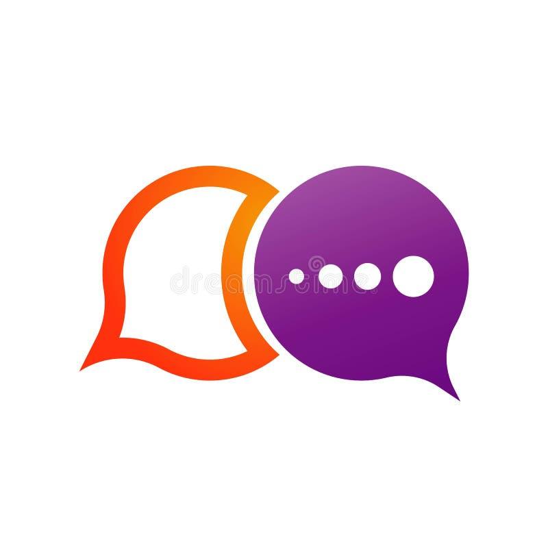 Mowa b?bla ikony logo szablonu wektoru ilustracje ilustracja wektor