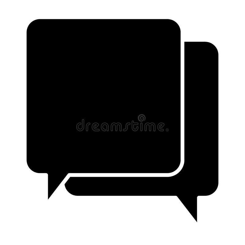 Mowa gulgocze stałą ikonę Wiadomości wektorowa ilustracja odizolowywająca na bielu Gadka glifu stylu projekt, projektujący dla si ilustracji