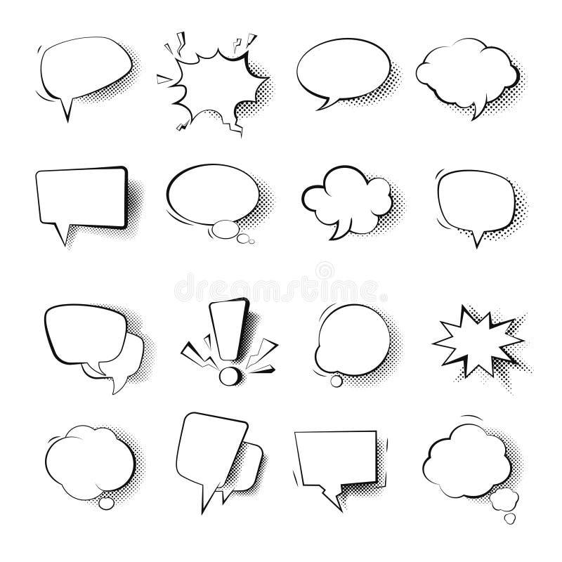 Mowa gulgocze szablon odizolowywającego ikon komiczek skutek royalty ilustracja