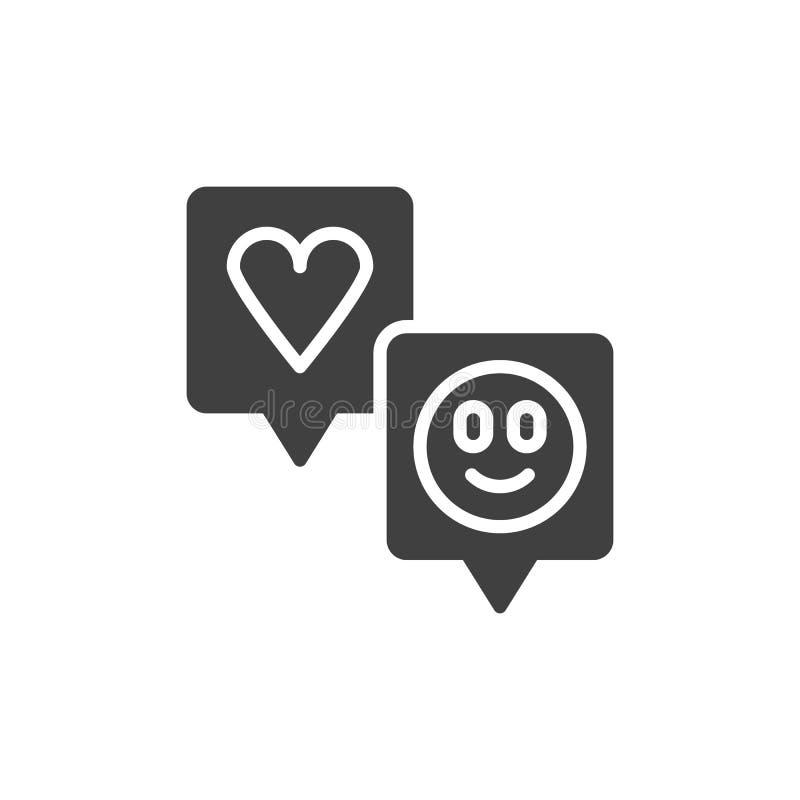 Mowa gulgocze z kierową i smiley wektorową ikoną ilustracja wektor