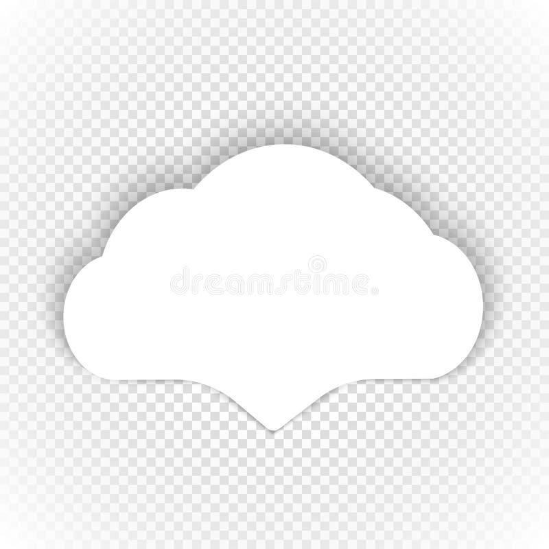 Mowa obłoczny szablon na przejrzystym ilustracji