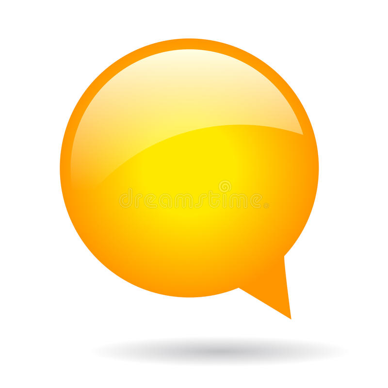 Mowa pomarańczowy bąbel ilustracja wektor