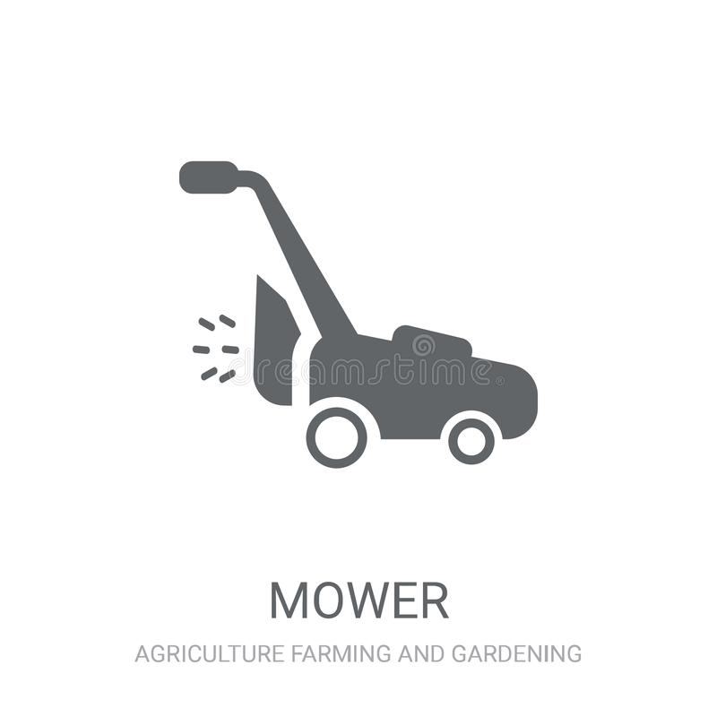 Mower icon. Trendy Mower logo concept on white background from A vector illustration