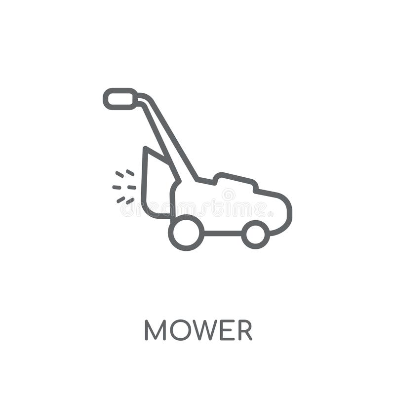 Mower linear icon. Modern outline Mower logo concept on white ba vector illustration