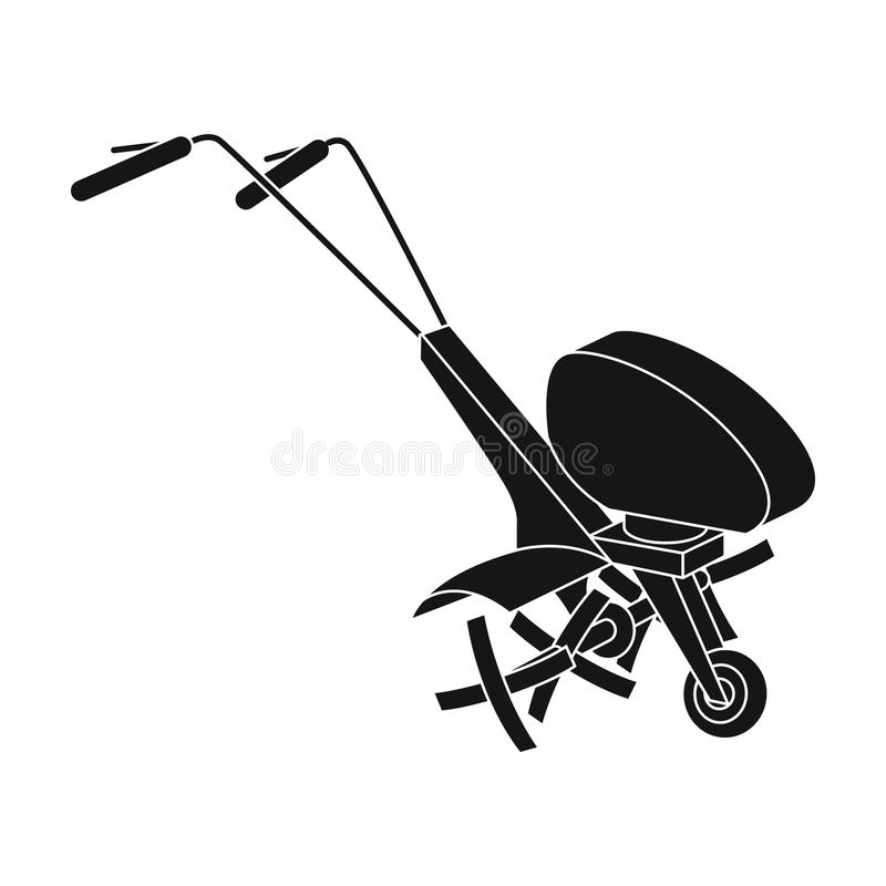 Mowers for cutting grass and lawn. Agricultural machinery for the court.Agricultural Machinery single icon in black vector illustration