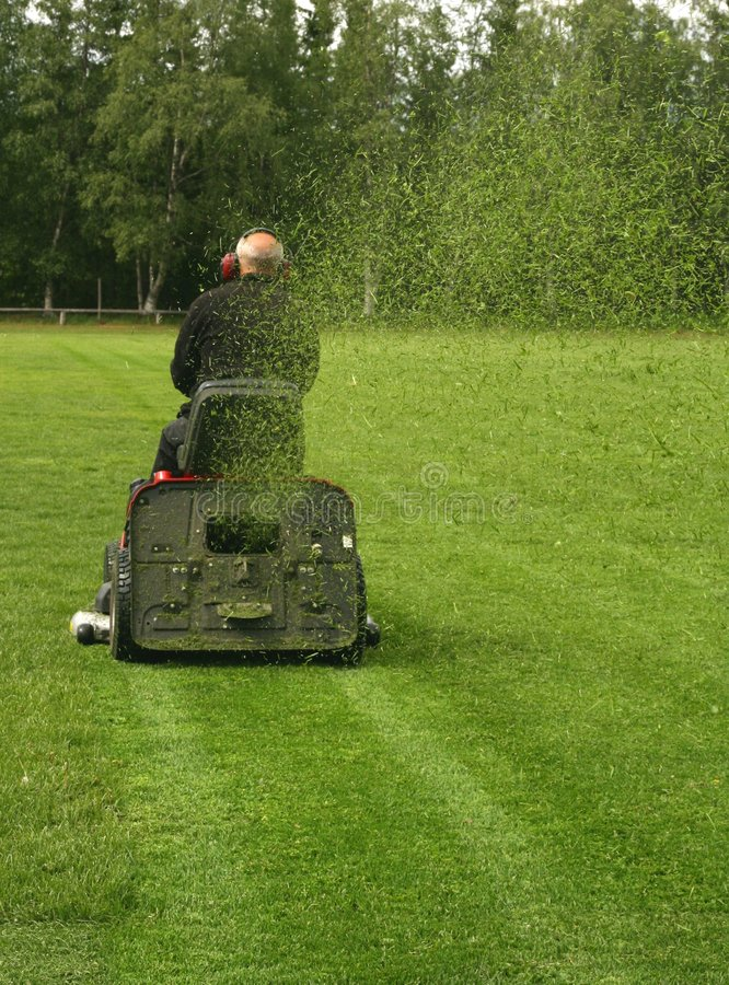 Mowing field royalty free stock photography