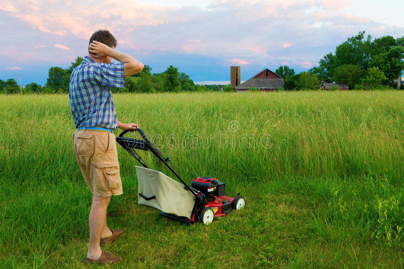 Download Mowing Job stock image. Image of impossible, mowing, grass - 16825863