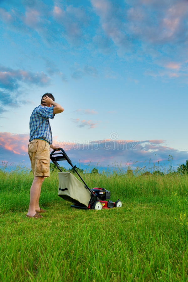 Download Mowing Job stock photo. Image of overgrown, mower, overdue - 17434458