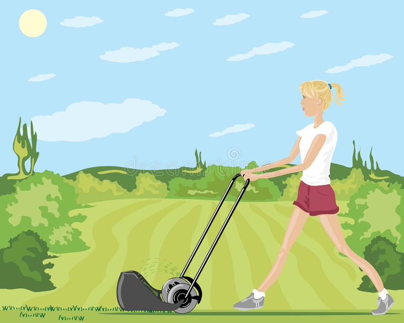 Download Mowing The Lawn Stock Photo - Image: 14823180