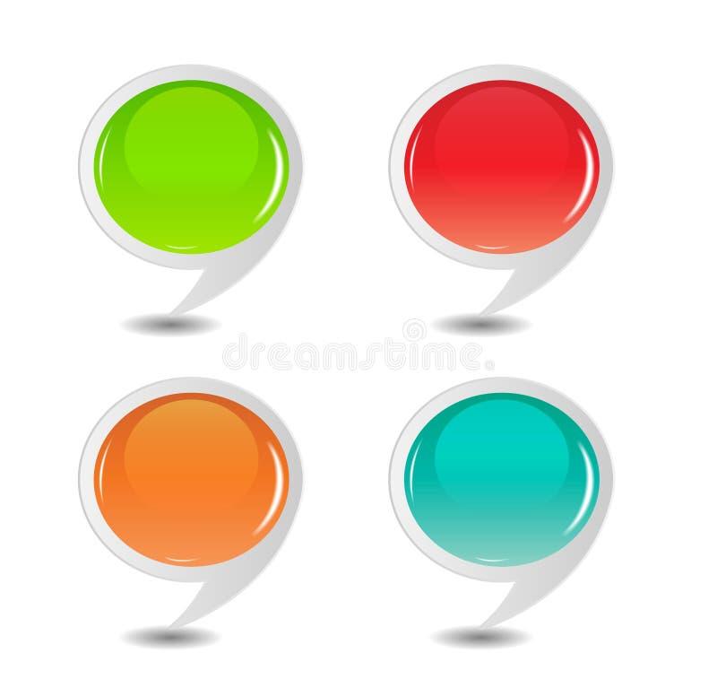 Download Mowy Bąbel Ustawiająca Wektorowa Ilustracja Ilustracja Wektor - Ilustracja złożonej z niezrównoważenie, obdarzony: 28962237