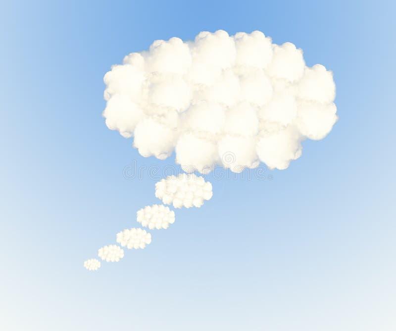 Mowy bąbla chmury royalty ilustracja