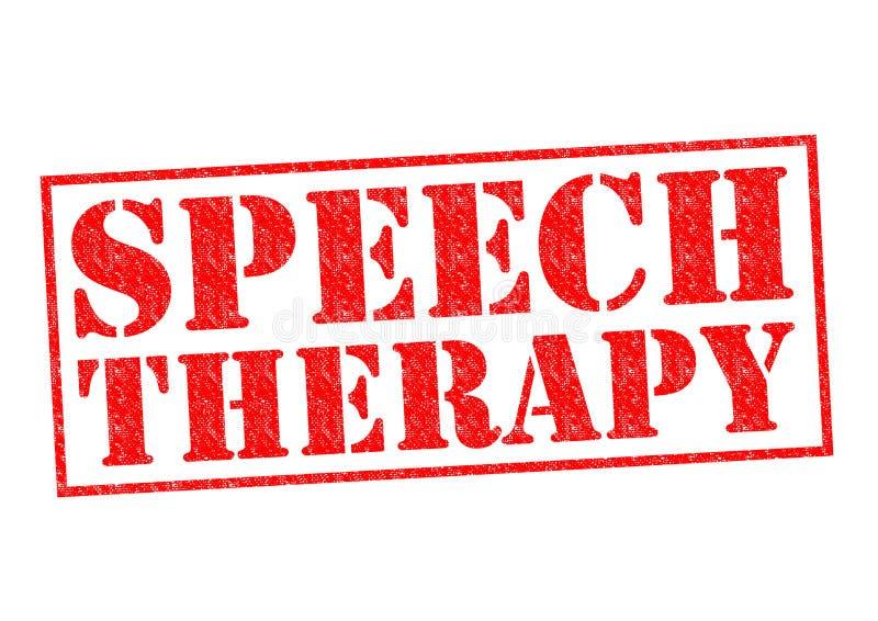 Mowy terapia ilustracja wektor