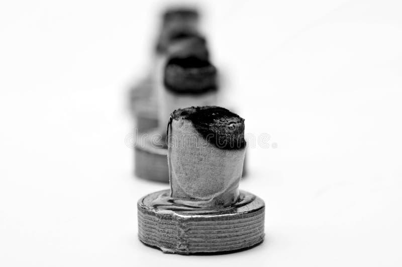 Moxibustion, chińska rozgrzewkowa terapia fotografia stock