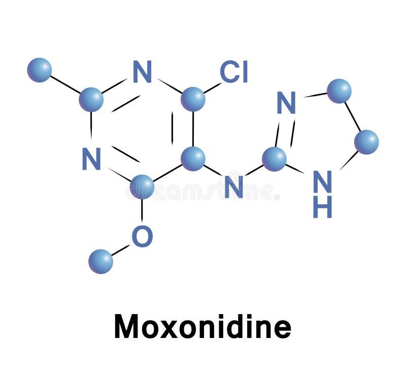 Moxonidine essentiële hypertensie royalty-vrije illustratie