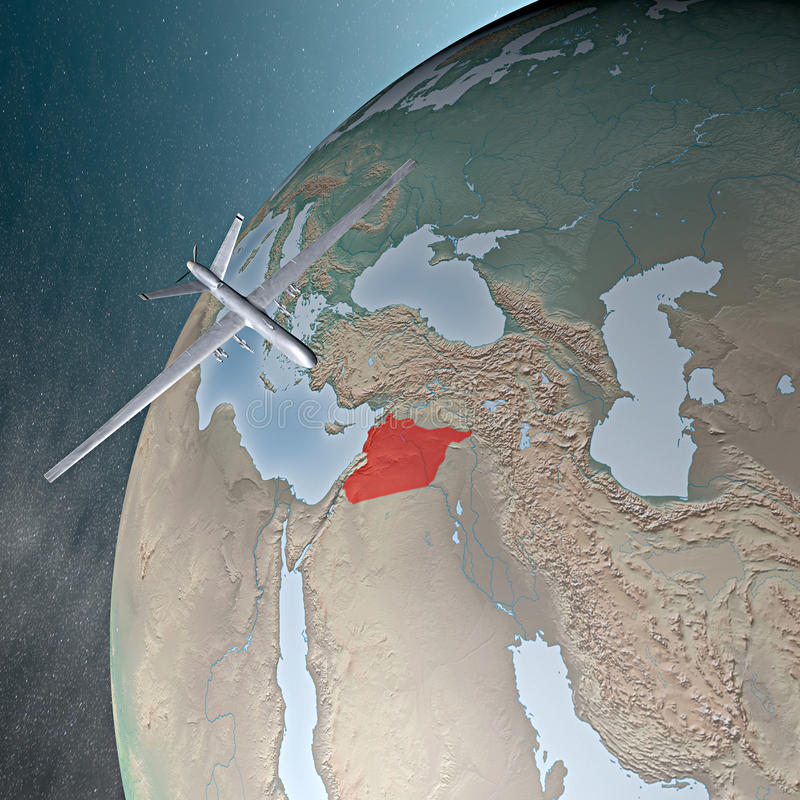 Moyen-Orient Comme Vu De L Espace, Bourdon Photo stock éditorial