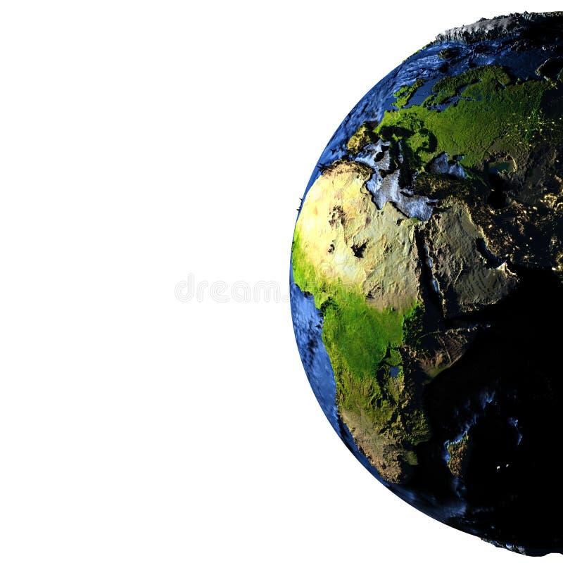 Download Moyen-Orient Sur Terre Avec Les Montagnes Exagérées Illustration Stock - Illustration du earth, océans: 87700232