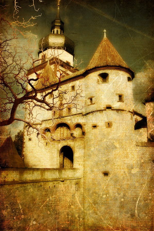 Moyens Âges foncés images stock
