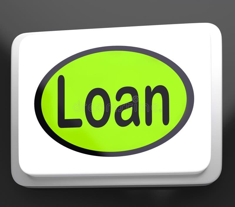 Moyens de bouton de prêt prêtant ou fournissant l'avance illustration de vecteur