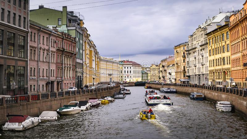 The Moyka River embankment ,Saint Petersburg - Russia stock image