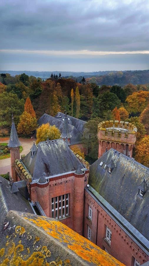Moyland-Schloss in Deutschland lizenzfreie stockbilder