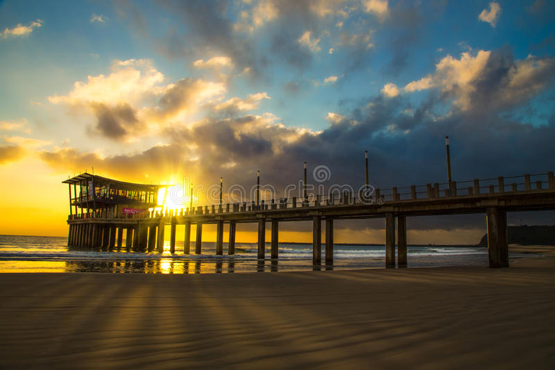 Moyo Durban. Moyo Pier at Ushaka Beach Durban royalty free stock images