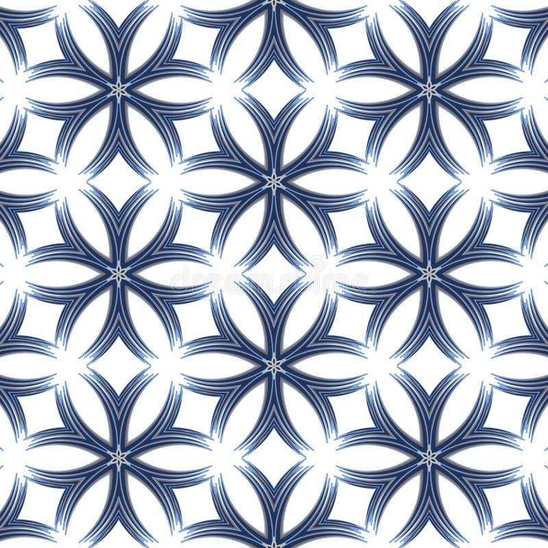 Mozaïek abstracte patronen in de vorm van blauwe kristallen royalty-vrije illustratie