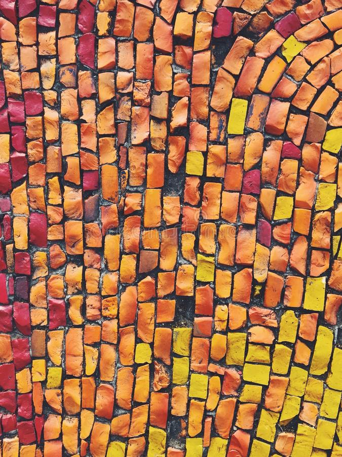 Mozaïek abstracte textuur stock afbeeldingen